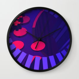 Late Night Movies Wall Clock