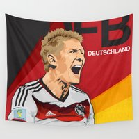 world cup Wall Tapestries featuring Germany World Cup 2014 by TheColorK