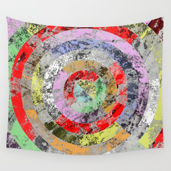 Wall Art Pastel Colours : Textured bullseye abstract marble pastel colours wall