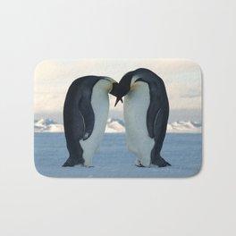 Emperor Penguin Courtship Bath Mat