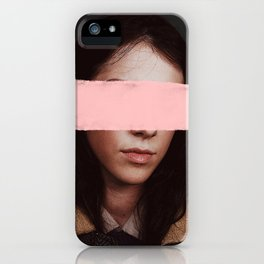 Portrait of a Woman Blushing. iPhone Case
