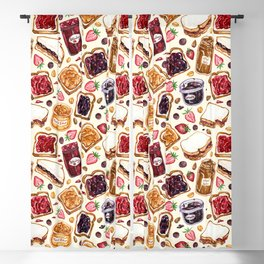 Peanut Butter and Jelly Watercolor Blackout Curtain