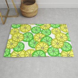 Lemon Lime Pattern Rug
