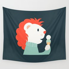 Mister Lion Wall Tapestry