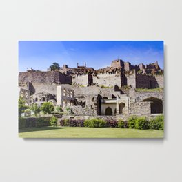 Looking up at Golconda Fort in Hyderabad, India Metal Print