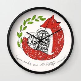 Foxy Love Wall Clock