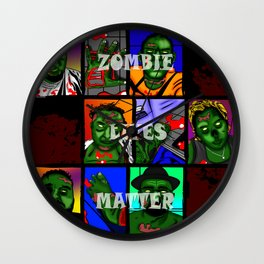 Zombie Lives Matter Collage Wall Clock