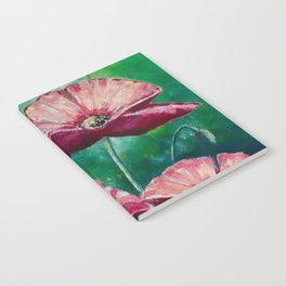 Opium Poppies Oil Painting Notebook