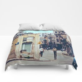 Old Downtown Havana Cuba Comforters