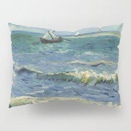 The Sea at Les Saintes-Maries-de-la-Mer by Vincent van Gogh Pillow Sham