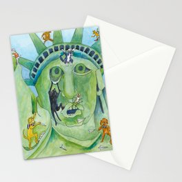 Statue of Liberty Canine Style Stationery Cards