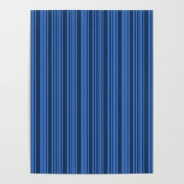 B'dazzled Blue Stripes Poster