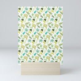 Woodland Ferns Illustrated Pattern Mini Art Print