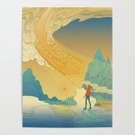 Golden Staircase Poster