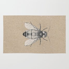 Bee pencil drawing Rug