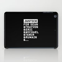justice league iPad Cases featuring Justice by YEAH PRETTY MUCH