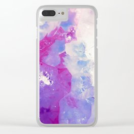Agate Slice Clear iPhone Case