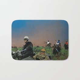 Sidecars & Cowboys Bath Mat