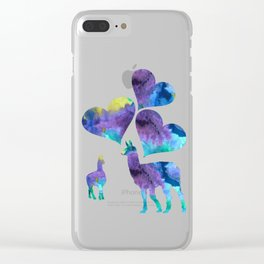 llama art Clear iPhone Case