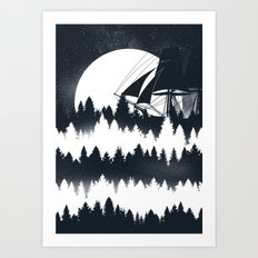 Forest Wave Art Print