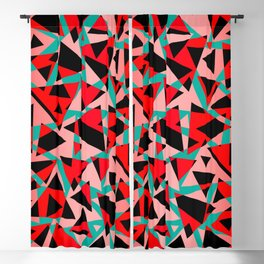 Pieces of colorful broken glass print Blackout Curtain