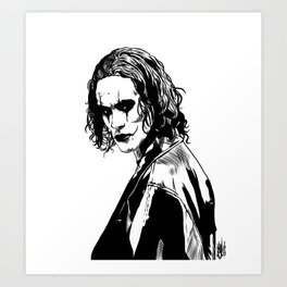 The Crow (Brandon Lee) Art Print