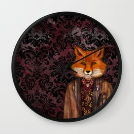 Portrait of the mysterious Lord Fox Wall Clock