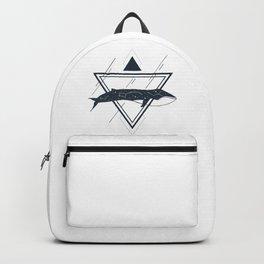 Cosmic Whale. Geometric Style Backpack