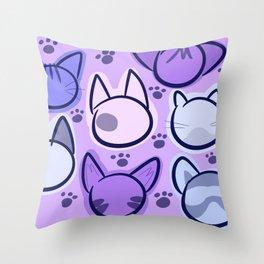pastel purrfection Throw Pillow
