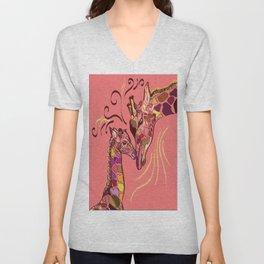 Giraffe Love Unisex V-Neck