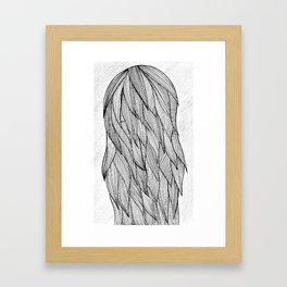 Long haired girl Framed Art Print