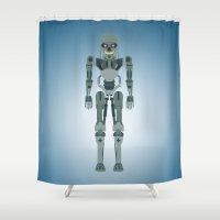 vector Shower Curtains featuring Terminator Vector by TIERRAdesigner