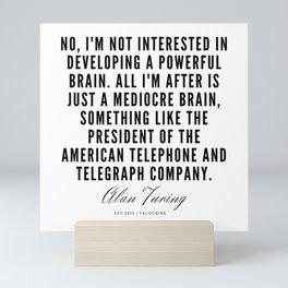 11  | Alan Turing Quotes  | 190716 | Mini Art Print