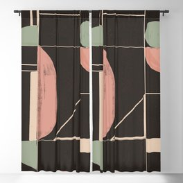 Minimal Abstract Art 67 Blackout Curtain