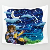 constellations Wall Tapestries featuring constellations by Catus