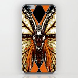 RIBBED WHITE BROWN & BLACK BUTTERFLY WING VEINS iPhone Skin