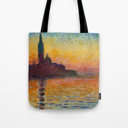 San Giorgio Maggiore by Twilight by Claude Monet Tote Bag