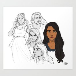 Laia of Serra Character Design Art Print