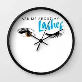 As Me About My Lashes - Brown Eyes Wall Clock
