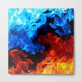 Cinematic Flame Art Metal Print