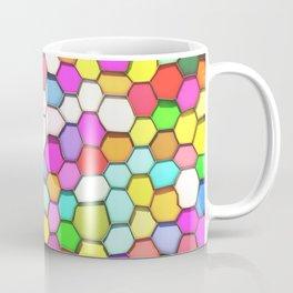 Distorted Colored Hexa Pattern Coffee Mug