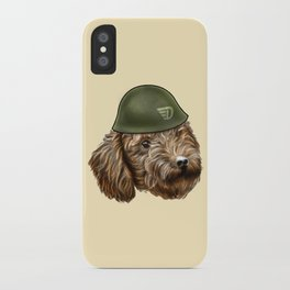 Toy Poodle Soldier iPhone Case