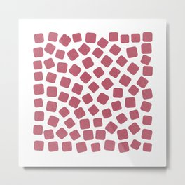 Red Gummies Pattern (Sweets) Metal Print