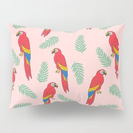 Macaw parrot tropical bird jungle animal nature pattern Pillow Sham