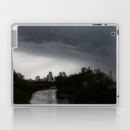 Storm clouds over Calgary and the Stampede grounds Laptop & iPad Skin