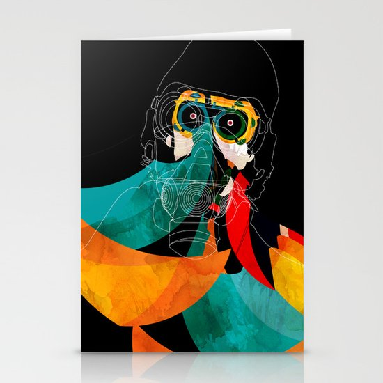 Mask Stationery Cards
