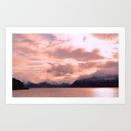 Rose Quartz Over Hope Valley Art Print