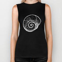 Ammonite Shell Biker Tank