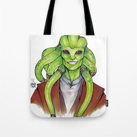 kit king Tote Bags featuring Kit Fisto by lorna-ka