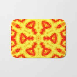 Fire Kaleidoscope 1 Bath Mat
